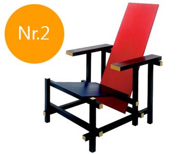 Rood-blauwe stoel Designstoelen.org