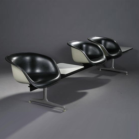 Tandem Shell Seating Charles & Ray Eames