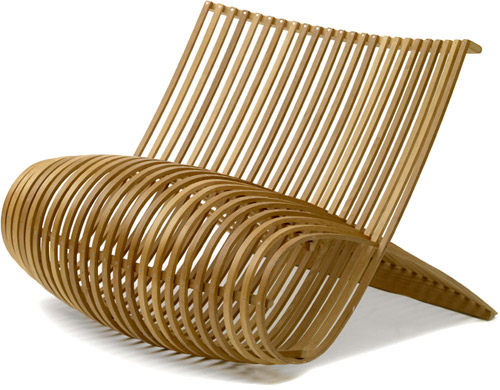 Wooden chair Marc Newson